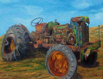 tractor abandonado