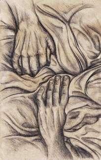 manos y tela