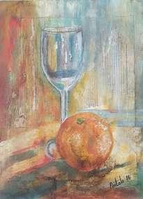 bodegón con naranja