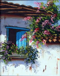 13-002 ventana casa pueblo colombiano