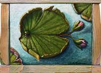 el pez lirio de agua - ( enmarcado )