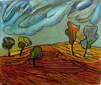 paisaje de los cinco árboles