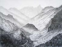 paisaje en grises
