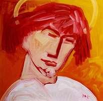 the vision of the archangel michael. self-portrait.