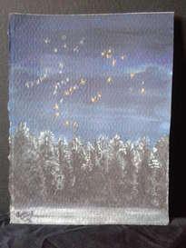 constelaciones en el bosque