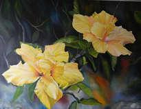 rosas chinas amarillas