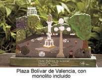 plaza bolivar de valencia con monolito valencia. venezuela. 2001