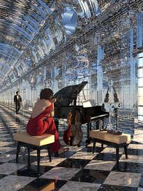 sonata de vidrio con dama