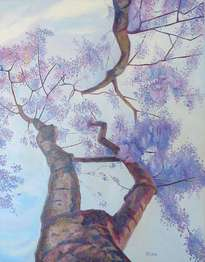 jacaranda, oleo sobre tela, 90 x 70 cm