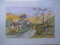 paisaje y casitas