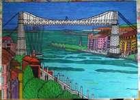 el puente colgante de getxo