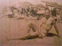 rogelio en la playa