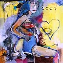 mujer y limón