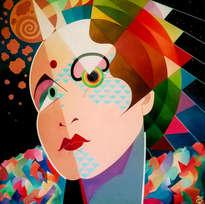 Retrato de mujer cósmica