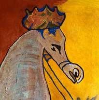 hno. oscar galo ( figura de caballo arabe 60 x 72 cm ( precio us$ 8,000