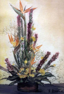 bodegón de flores