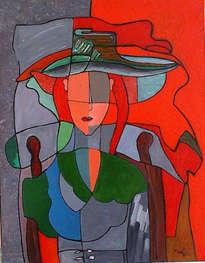 mujer entre rallas