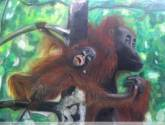 madre orangután