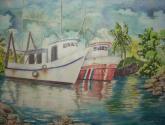 barcos en un puerto de limón