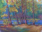 paisaje en pastel
