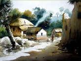 bengal village at noon