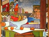mesa con cajon y frutero