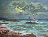marina con tormenta