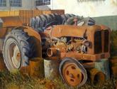 tractor y bidones