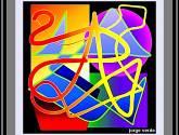 053 / od 15  geométrico  garabatos de la a