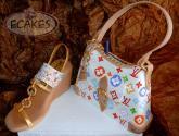 bolso y sandalia fashion
