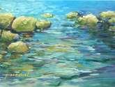 rocas en la orilla