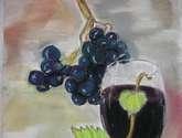 uva y copa con vino