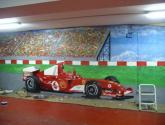 graffiti mural ferrari de 26 m2 en domicilio particular