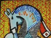 descanso del caballo azul