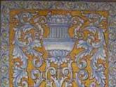 mural de ceramica estilo renacentista