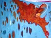 """ monarca ""  1.20 x 1.00 cm.  óleo/tela"