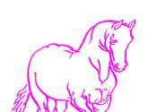 caballo rosado