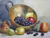 frutas sobre metal