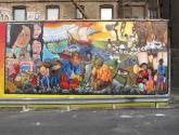 of the immigrants mural :  y yo ya estaba!  i was already here!