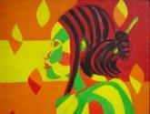 Femme Mosaique orange
