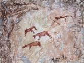 caza de caballos salvajes.- raco de nando
