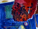 """ mi casa azul ""  1.20 x 1.00 cm.  óleo/tela"