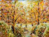 autumn landscape. autumn painting: beginning of autumn - sold
