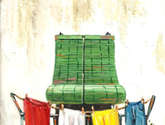 balcon con ropa