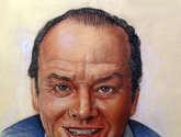 retrato alpastel de jack nicholson