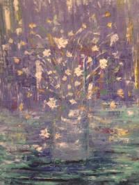 flore en blanco y amarillo