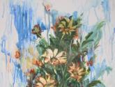 flores en el aire