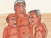 pensioners / cartoon