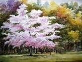 beauty of season flowers tree