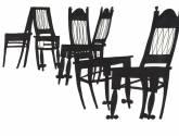 sillas negras